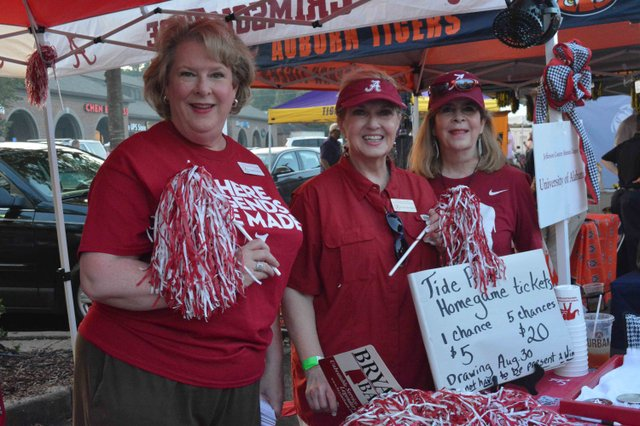 Staffing the Bama tent