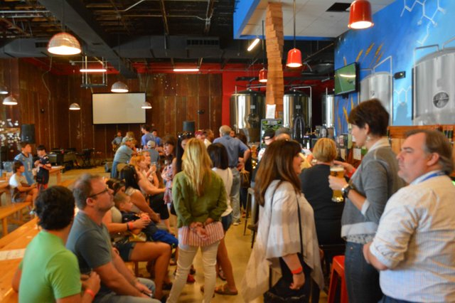 Crowd at Red Hills Brewing Company