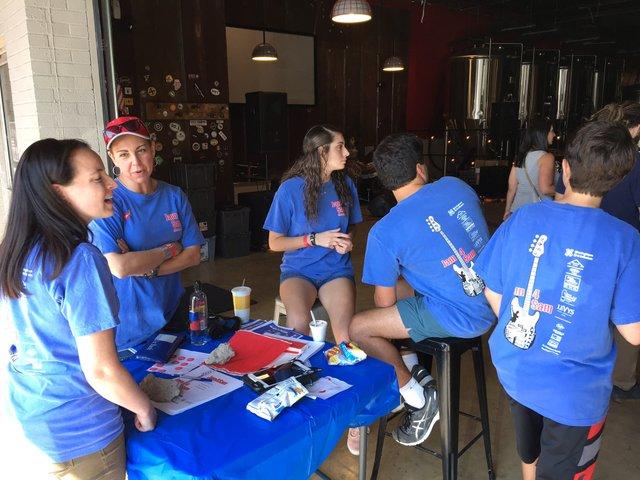 Volunteers at Jam for Sam
