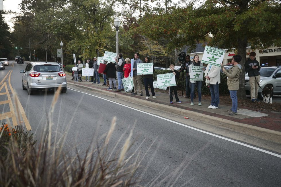 Overton Village Protest