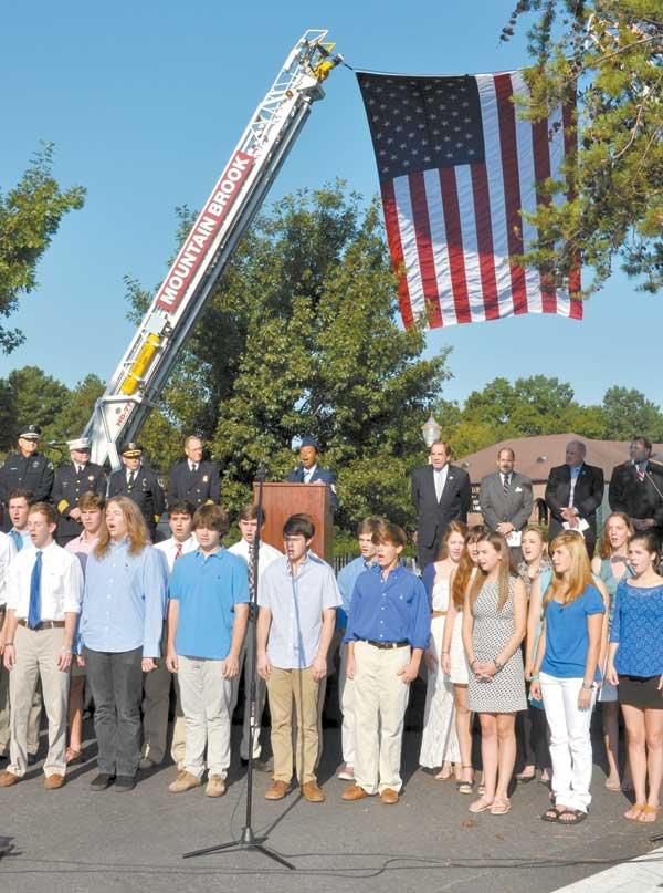 Patriot Day Ceremony MBHS choir