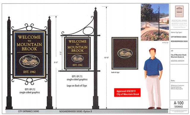 New entrance signs