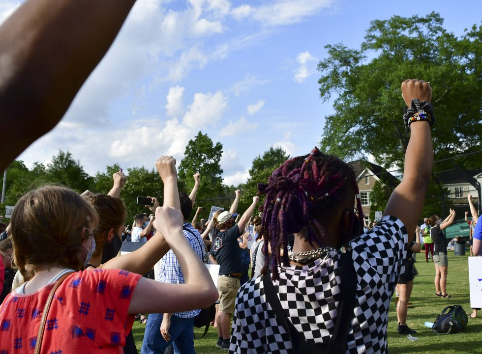 justice for george floyd rally in crestline village