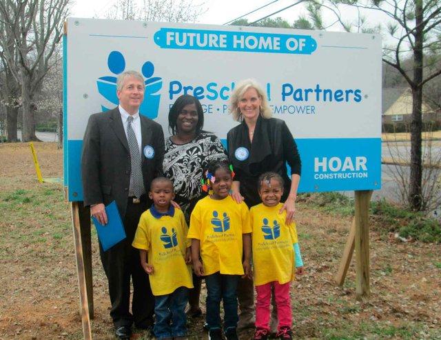 Preschool Partners Ground Breaking Sign