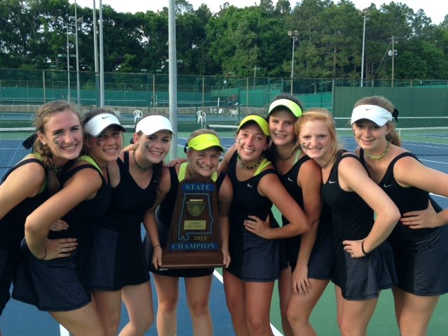 Girls Tennis State Champs 2014