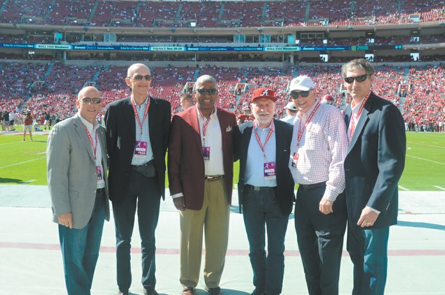 The second is hosting them at the Alabama vs Texas A&M Football Game Scott Myers, Max Bishop, Mayor William Bell, Co Koren, Edgar Welden, David Benck.jpg