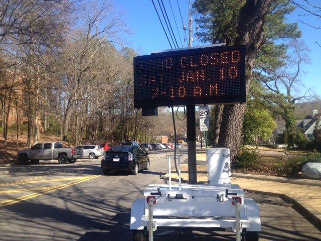 Red Shoe Run Road Closed