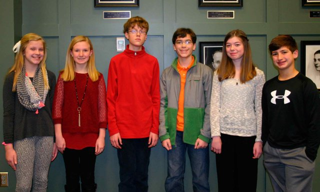District Spelling Bee Contestants 2015