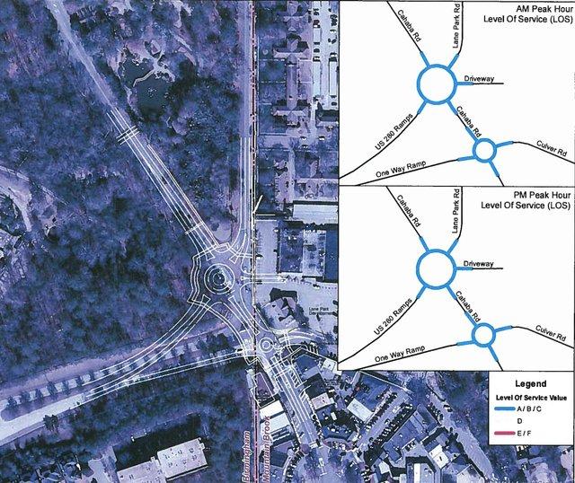 Roundabout Diagram Mountain Brook Village