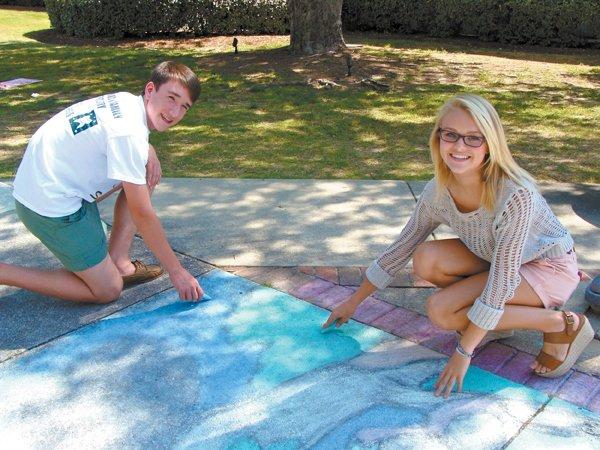MBJH sidewalk artists