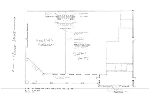 Sawtooth Cookhouse plan
