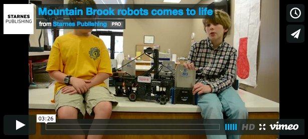 Mountain Brook Junior High robotics video