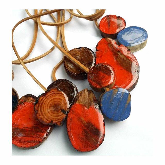 Toomer's Jewelry Orange Blue