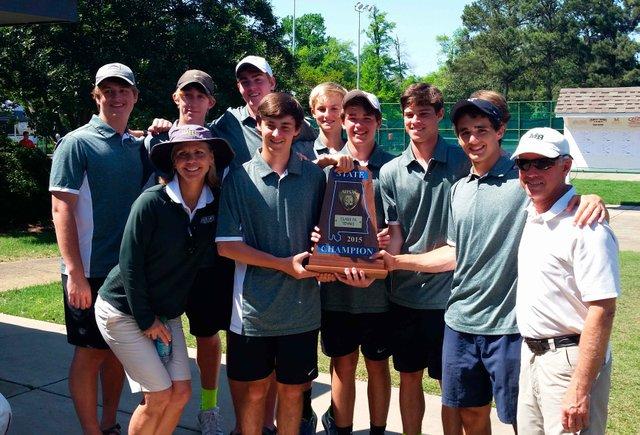 Boys Tennis State Champions 2015