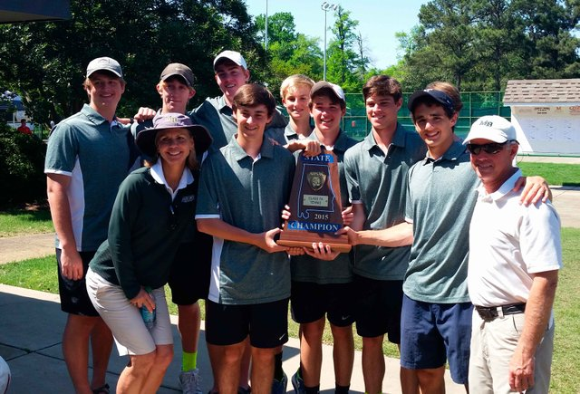 Boys Tennis State Champions 2015