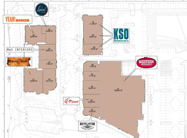 Lane Park Retail Phase One Map
