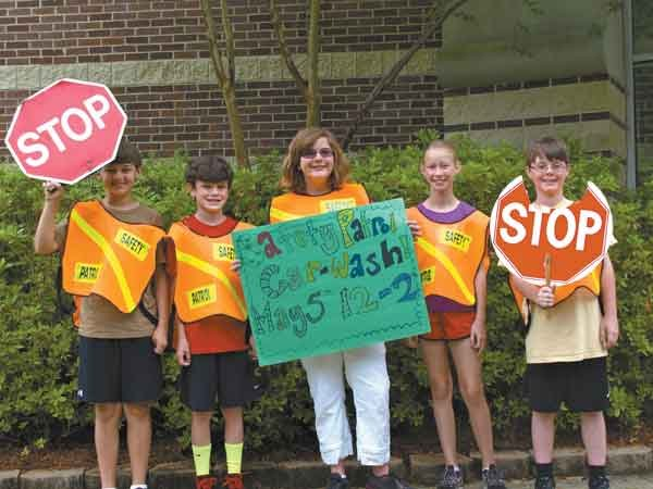 CBS safety patrol holds car wash