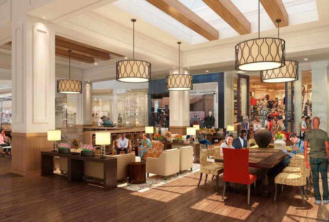 Brookwood Mall Interior Renovatiosn Rendering