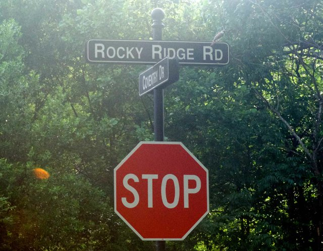 Rocky Ridge Road Sign