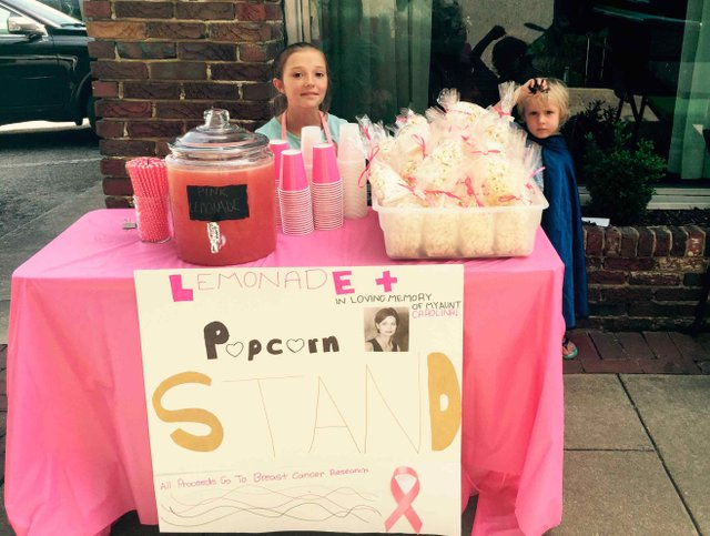 Lilly Papapietro Breast Cancer Lemonade Stand