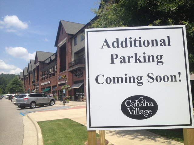 Cahaba Village Parking Addition Sign