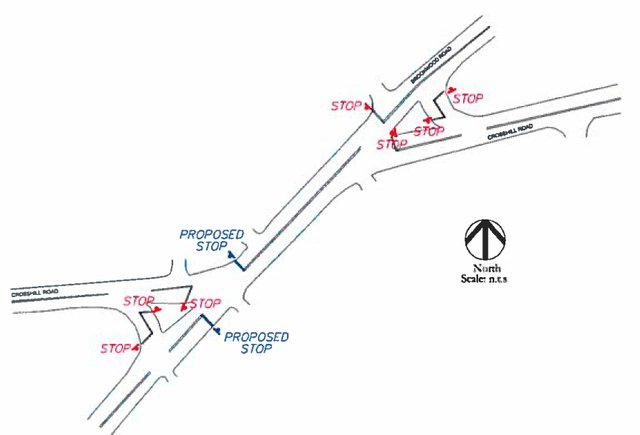 Brookwood Crosshill Stop Sign Recommendations