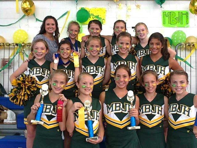 0812 Seventh grade cheeleaders