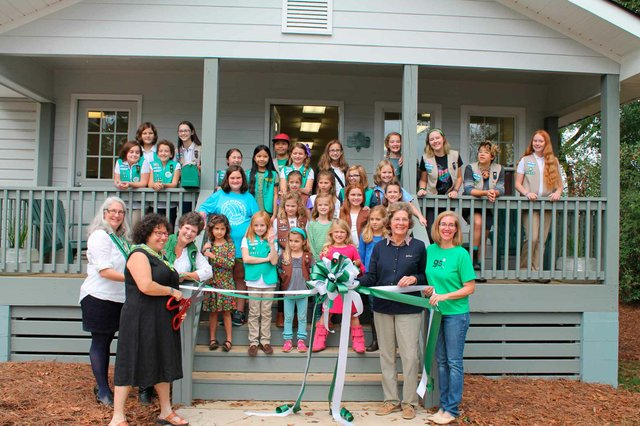 Girl Scout House Ribbon Cutting