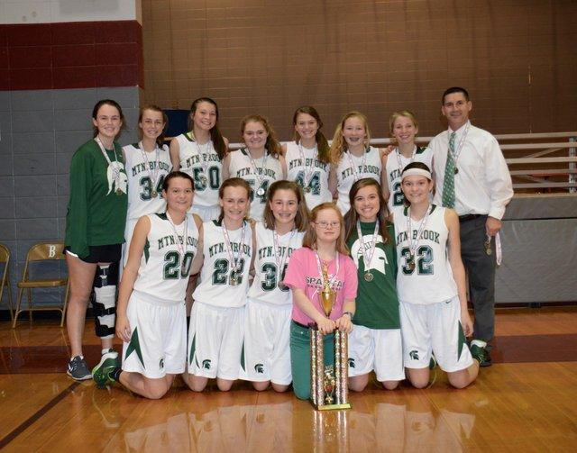 8th grade girl's basketball team finishes undefeated, wins championship