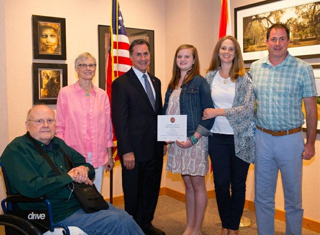 6th district 2016 art winner and family